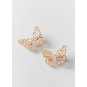 NEW! Urban Outfitters Butterfly Hair Clip Set Gold